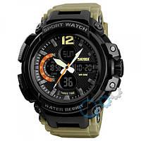 Наручные часы Skmei 1343 Black-Khaki Wristband