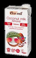 Кокосово-миндальное молоко без сахара Ecomil 1 л