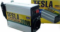 Автомобильный инвертор tesla пн-22200, преобразователь напряжения 12в–220в, usbвыход, розетка, звуковой сигнал