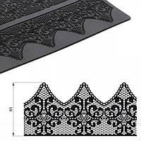 Силиконовый коврик Кружево, одна полоса, фото 1