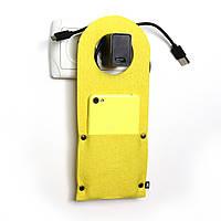 Карман д/зарядки телеф.на заклепке Digital Wool желтый, фото 1
