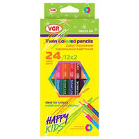 Карандаши цветные двусторонние VGR 001224DD, 12 шт./ 24 цвета