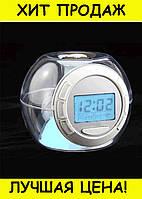 Часы c подсветкой Changing Light Alarm Clock, фото 1