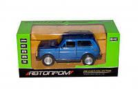 "Машина синяя метал 7812 (96шт/2) ""АВТОПРОМ"" ,батар.,свет,звук,откр.двери,в кор. 15*6,7*7см"