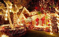 Новогодняя гирлянда 500 Led лампочек (прозрачный провод) мультицвет