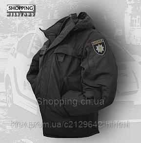 Куртка полиции зимняя черная Патруль Patrol Jacket Black