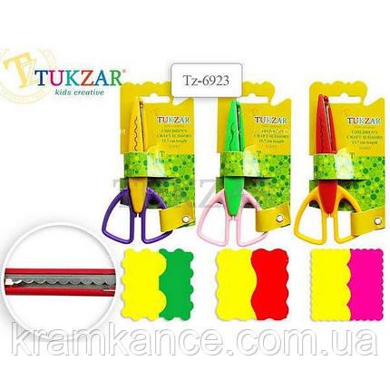 Ножницы  детские с фигурными лезв. 13,7см TUKZAR TZ-6923, фото 2