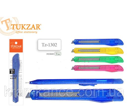 Нож канцелярский TUKZAR TZ-1302 9мм, фото 2