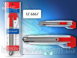 Нож канцелярский TUKZAR TZ-6867 18мм (AUTOLOCK)