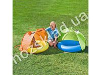 Bestway Надувной бассейн с поворачивающимся раскладным тентом. Солнечная защита 50+ UPF. Мягкое наду