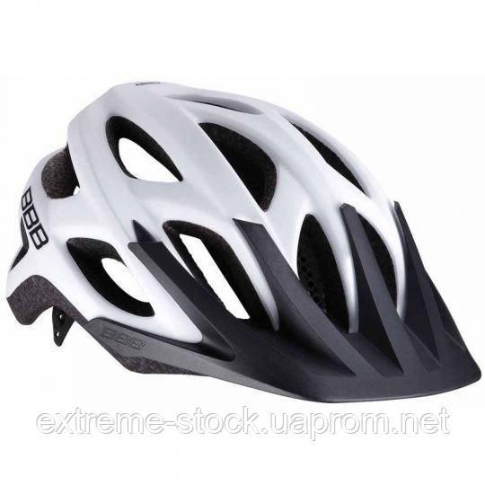 Велосипедный шлем BBB Varallo, BHE-67, бело-чёрный, 54-58