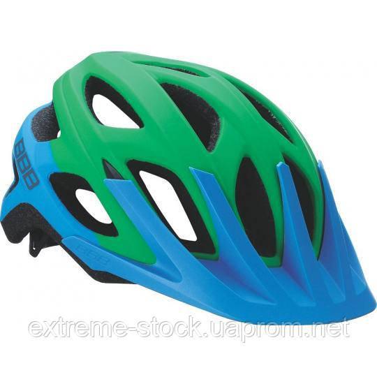 Велосипедный шлем BBB Varallo, BHE-67, сине-зелёный, 54-58
