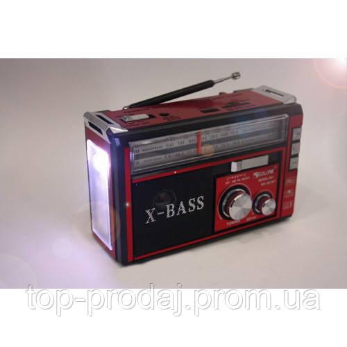 Радио RX 382, Приемник c led фонариком, Радиоприемник GOLON, Радиоприемник колонка MP3