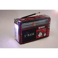 Радио RX 382, Приемник c led фонариком, Радиоприемник GOLON, Радиоприемник колонка MP3, фото 1