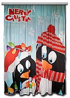Фото шторы Пингвины
