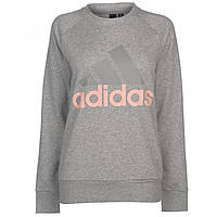 Толстовка adidas Crew Neck Grey/HazeCoral - Оригинал