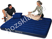 Велюр матрац Intex - 68765 + 2 подушки + насос