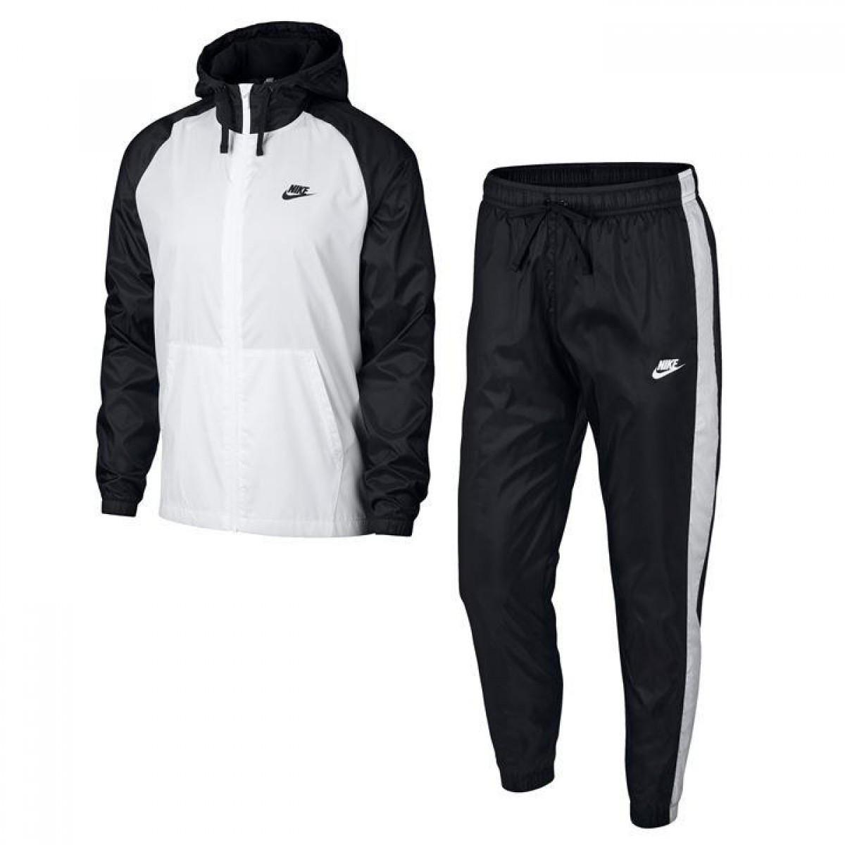 Спортивный костюм Nike NSW Wov T Suit Sn83 Black White - Оригинал - FAIR - c772987775f