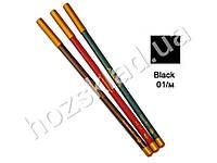 Карандаш для глаз и губ деревянный Jovial Luxe ML-180 №01 черный