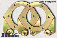 Кронштейн крепления суппорта УАЗ 3163 Патриот на УАЗ 469 (2 шт)