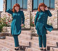Женский костюм с удлиненной рубашкой, 50-56 размер, фото 1