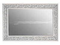Зеркало Атолл Валенсия 130 слоновая кость (патина серебро), фото 1