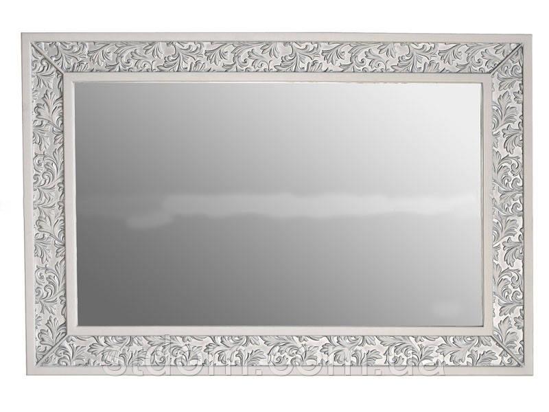 Зеркало Атолл Валенсия 130 слоновая кость (патина серебро)