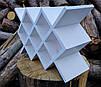 """Винный стеллаж """"Lot Margo"""" белый, дерево, белый, орех, черный, бесцветный лак, венге, серый., фото 4"""
