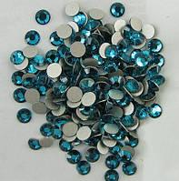 Стразы Blue Zircon (блю циркон) SS16 холодной фиксации. Цена за 144 шт, фото 1