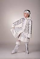 """Детский карнавальный костюм """"Снегурочка Серебро"""""""
