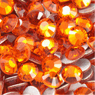 Стразы Orange / Hyacinth SS16 холодной фиксации. Цена за 144 шт