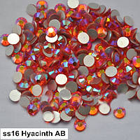 Стразы Orange AB / Hyacinth AB SS16 холодной фиксации. Цена за 144 шт