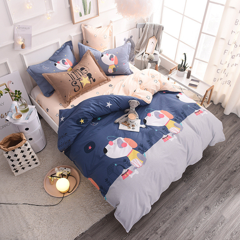 Комплект постельного белья Щенки (двуспальный-евро) Berni Home