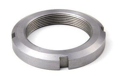 Гайка М140 (28 КМ) кругла сталева шлицевая DIN 981