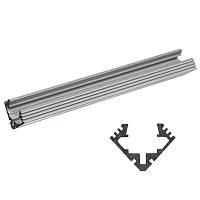 Алюминиевый LED профиль LP-1 угловой для светодиодной ленты, линейки
