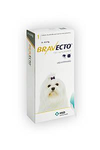 Бравекто Bravekto жевательная таблетка защита от клещей и блох для собак весом 2-4,5 кг