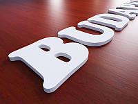 Буквы из ПВХ пластика, H=100мм (Толщина пластика: 10мм;  Крепеж: Без крепежа;), фото 1