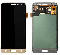 Дисплей Samsung J320 Galaxy J3 (2016) TFT (подсветка оригинал) с сенсором золотой