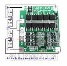 BMS 4S 30A контролер заряда с балансиром для литиевых акб. БМС