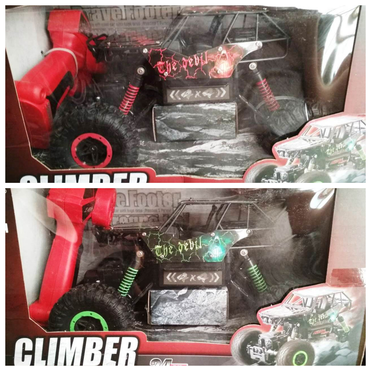 Машина Багги Джип 4х4 на радиоуправлении «Climber» 8897-193B надувные колеса