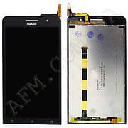 Дисплей (LCD) Asus ZenFone 6 (A600CG/  A601CG) с сенсором чёрный