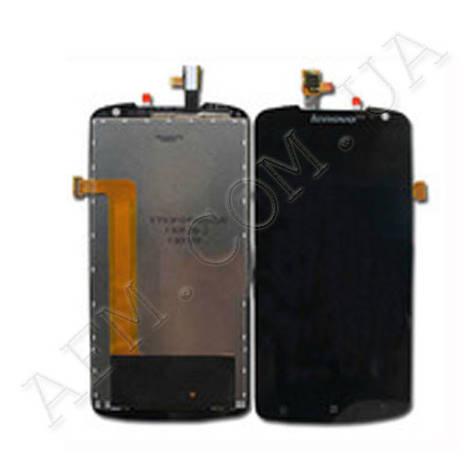 Дисплей (LCD) Lenovo S920 с сенсором чёрный, фото 2