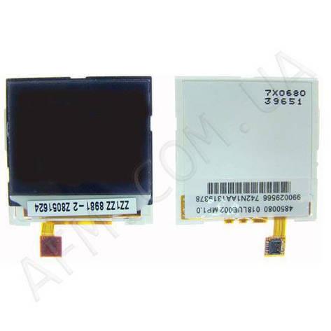 Дисплей (LCD) Nokia 1600/  1208/  1209/  2310/  2126CDMA/  /  (6125/  6136/  N71) внешний, фото 2