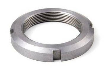 Гайка М115 (КМ 23) стальная круглая шлицевая DIN 981, фото 2