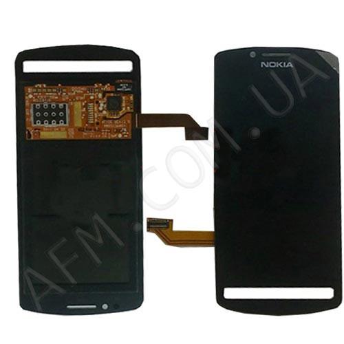 Дисплей (LCD) Nokia 700 Lumia с сенсором чёрный