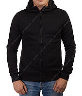 Толстовка мужская  J-Stil с капюшоном и прорезным карманом  чёрная  M-L-XL-2ХL, фото 1