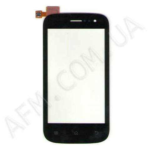 Сенсор (Touch screen) Fly IQ442 Miracle чёрный с большим разъемом, фото 2