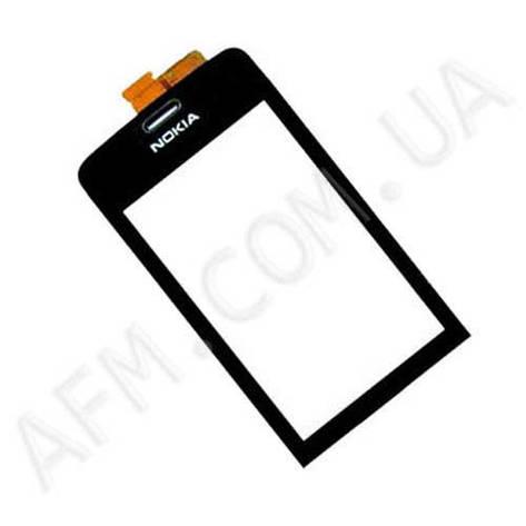 Сенсор (Touch screen) Nokia 308/  309 Asha чёрный копия, фото 2