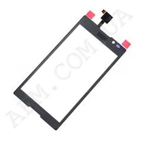 Сенсор (Touch screen) Sony C2305 S39h Xperia C чёрный, фото 2