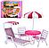 """Мебель для кукол 3920 Глория """"Gloria""""  Садовая мебель, Пикник, шезлонг, зонт, стулья., фото 3"""